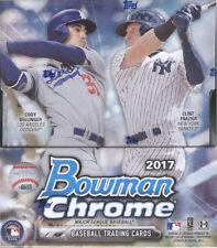 2017 Bowman Chrome Baseball Hobby Box FACTORY SEALED 12 PACKS & 2 AUTO'S PER BOX