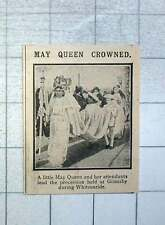 1915 May Queen Leading Procession Held At Grimsby Whitsuntide