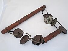 1900s OLD VINTAGE HAND MADE IRON AND WOODEN FOLK MUSICAL INSTRUMENT