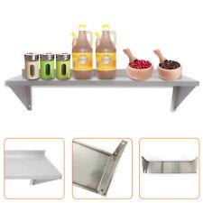 12 X 36 Solid Wall Shelf Stainless Steel Restaurant Kitchen Organizer Rack