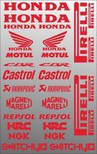 KIT ADESIVI GRAFICHE COMPATIBILE MOTO SPONSOR ROSSO CARENE HONDA CBR 600 1000 RR