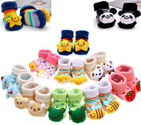 Baby Infant Toddler 3D Cartoon Anti-Slip Socks Shoes Slipper Socks  0-12 Months
