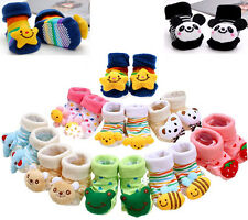 Newborn Baby Girl Boy Lovely Anti-slip Socks Shoes Slippers Animal Boots 0-6M