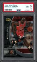 (7) CARD SET 1998 Upper Deck Ionix Michael Jordan HOF PSA 10 GEM MINT