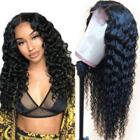 Lace Front Human Hair Wigs Deep Wave Curly Brazilian Pre Plucked  Baby Hair Wigs