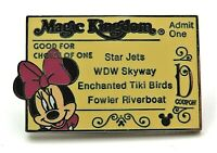 Cast Lanyard Series #3 - Magic Kingdom Ticket D / Minnie Mouse Disney Pin #34268