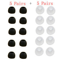 10 Pairs Small Clear color Silicone Replacement Ear Buds Tips For Sony Phillips
