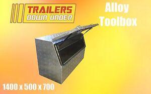 Aluminium Toolbox with Half Door   Weather Proof   Fixed Shelf