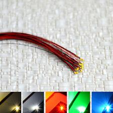 12pcs précâblé 0603 SMD Led pré-câblé blanc chaud froid rouge bleu vert pre wire