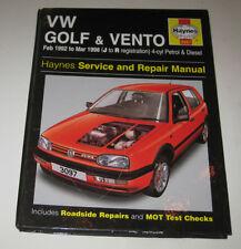 Reparaturanleitung VW Golf 3 / III + Vento Benzin + Diesel TDI, 1992 - 1998