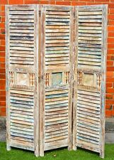 Indian Vintage Shabby Chic Reclaimed Timber Shutter Hand Made Room Divider