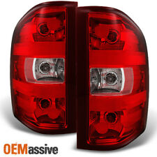 2007-2013 Silverado 07-14 Sierra 3500 HD Red Clear Rear Tail Lights Replacement