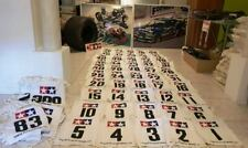 """Vintage nostalgic items from Tamiya Japan : """"Competition Racing numbers"""" (Bibs)"""
