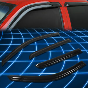 Tape-On Window Visors Sun/Rain Guard Vent Shade For 06-15 Toyota Hilux Crew Cab