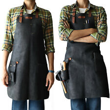 Otto Angelino Genuine Leather Cooking, Barista, Workshop Apron with Tool Pockets