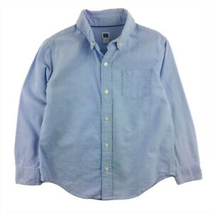 Janie and Jack Long Sleeve Button Up Blue Oxford Shirt Dress Down Boys 5