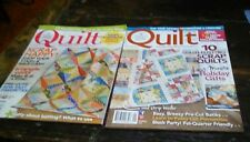 Quilt Magazines dec/jan and aug/sept 2013