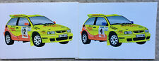 2x SEAT Ibiza Kit Car Rally Sticker 1997 98 World British Championship Cupra WRC