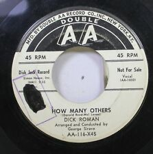 50'S & 60'S Promo 45 Dick Roman - How Many Others / I'M Your Boy On Double Aa