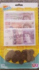 Pack of Children's Kids Toy Play Learn Money Notes & Coins Collect Fun Game Toy