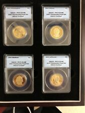2007 Presidential Dollar Proof Set ANACS PR70 DCAM 4 Coins in Display Box Nice