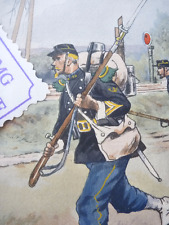 Watercolour wash print of WW1 from the studio of a very nice  artist  french mil