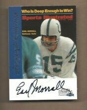 1999 Sports Illustrated autographed football card Earl Morrall, Baltimore Colts