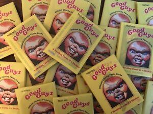 FRIGHT RAGS CHUCKY TRADING CARD & STICKER WAX PACK Childs Play Horror Bonus Set