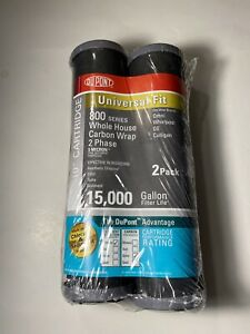 """Twin Pack Dupont 800 Series 10"""" Whole House Carbon Wrap Water Filters"""
