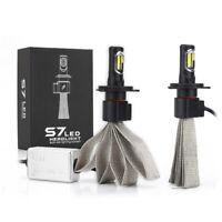 2x S7 72W H4 Car LED Headlight Kit Bulb Conversion COB Lamp 8000LM 6000K White.