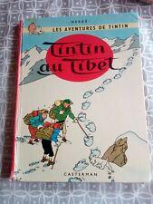 Bande dessinée HERGE TINTIN AU TIBET 1960