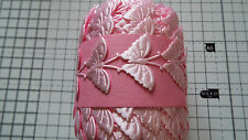 2m -Pink, Butterfly Motif - Applique,Trimmings,Wedding, Satin Lace Ribbon- W-3cm
