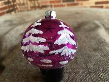 "vintage sechziger jahre mad men style lila tannenbaum, sterne polen ornament 2 1/4"""