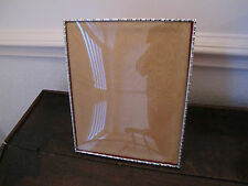LARGE HALLMARKED STERLING SILVER 'BAMBOO' DESIGN PHOTO FRAME - A E JONES - 1973