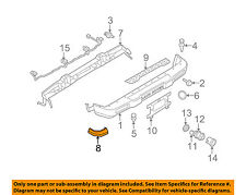LAND ROVER OEM 99-04 Discovery Rear Bumper-Finish Molding Left DQR101090