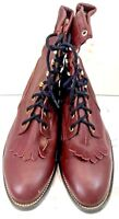 Men's Brown ankle boots leather size 9.5 Check it out! Brand New!