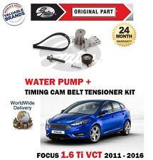Para Ford Focus 1.6 Ti Vct 16V 2010-2016 Correa Distribución Kit + Bomba de Agua