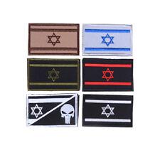 Israel Flagge gestickter Schädel Militär Armee Moral Haken Patch Badge ArmbandSA