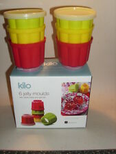 New Kilo Small Plastic Round Jelly Moulds And Lids Pk6 L35