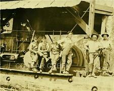 6 LOGGERS STEAM DONKEY CREW WASHINGTON LOGGING PHOTO