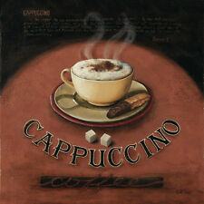 Cappuccino by Lisa Audit Art Print Poster - Coffee House Cafe Restaurant 12x12