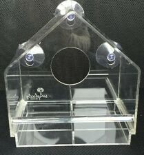 Acrylic Window Bird feeder with removable tray! Durable! Window viewing