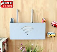Wall Mount Router Storage Box Wireless Wifi Shelf Bracket Organizer Plastic Rack