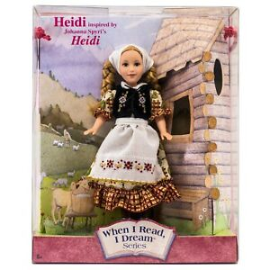 "Timeless Treasures Heidi Doll When I Read, I Dream Series 8"" Mattel NRFB #52900"