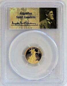 2013 W GOLD $5 AMERICAN EAGLE 1/10 oz AUGUSTUS ST. GAUDENS LABEL PCGS PR 70 DCAM