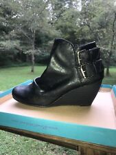 Brand new Blowfish Malibu Boots Size 8 Women's Black 'Leche' Wedge Ankle Booties