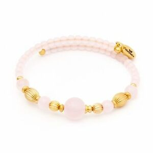 Chrysalis Gold Plated Summer Pink Wrap Bangle Bracelet - CRBW0006GPPIGL