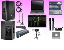 Professional Laptop Karaoke System with JBL SRX812p Active Speakers 4000 watts