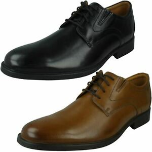 MENS CLARKS WHIDDON PLAIN LEATHER CASUAL DRESS SMART FORMAL LACE UP SHOES SIZE