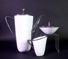 Hutschenreuther Apart - edles 1950ies Kaffeeservice - Feinsilberauflage